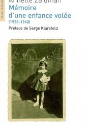 Mémoire d'une enfance volée (1938-1948) : récit