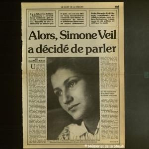 Simone Veil : écouter et entendre sa voix